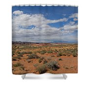 Valley Of Fire Horizon Shower Curtain