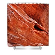 Valley Of Fire Mouse's Tank Sandstone Wall Portrait Shower Curtain