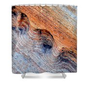 Valley Of Fire Rainbow Sandstone Shower Curtain