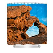 Valley Of Fire State Park Arch Rock Shower Curtain
