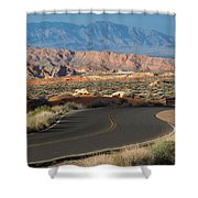 Valley Of Fire State Park Rainbow Vista Shower Curtain