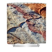 Valley Of Fire White Domes Sandstone Shower Curtain