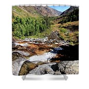 Valley Of Streams  Shower Curtain by Sean Sarsfield