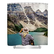 Valley Of The Ten Peaks Shower Curtain