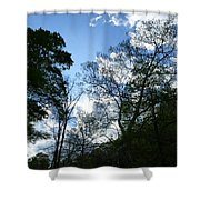 Valley Sky View Shower Curtain