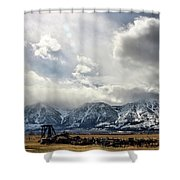 Valley Storm Shower Curtain