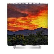 Valley Sunset H33 Shower Curtain