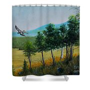 Valley View From Up The Hill Shower Curtain