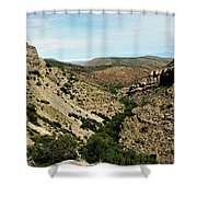 Valley View Of Whitesands Shower Curtain