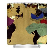 Valloton: Street Corner Shower Curtain