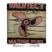 Valvtect Marine Fuel Sign Shower Curtain
