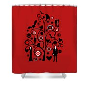 Vampire Art Shower Curtain