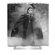 Vampire In The Fog Shower Curtain