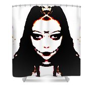 Vampire Skeleton Shower Curtain