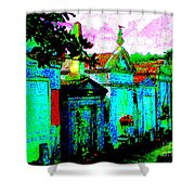Vampire Tombs New Orleans Shower Curtain