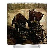 Van Gogh Boots 1886 Shower Curtain