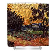 Van Gogh: Castle, 1890 Shower Curtain