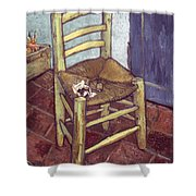 Van Gogh: Chair, 1888-89 Shower Curtain