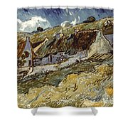 Van Gogh: Cottages, 1890 Shower Curtain