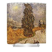 Van Gogh: Cypresses, 1889 Shower Curtain