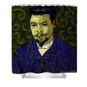 Van Gogh: Dr Rey, 19th C Shower Curtain