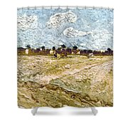 Van Gogh: Fields, 1888 Shower Curtain