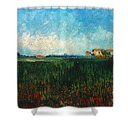 Van Gogh: Landscape, 1888 Shower Curtain
