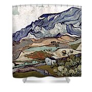 Van Gogh: Landscape, 1890 Shower Curtain