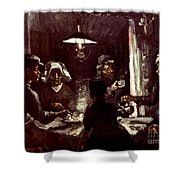 Van Gogh: Meal, 1885 Shower Curtain by Granger