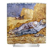 Van Gogh: Noon Nap, 1889-90 Shower Curtain