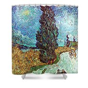 Van Gogh: Road, 1890 Shower Curtain