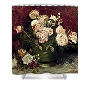 Van Gogh: Roses, 1886 Shower Curtain