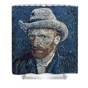 Van Gogh: Self-portrait Shower Curtain