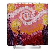Van Gogh Sunset Shower Curtain