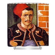 Van Gogh: The Zouave, 1888 Shower Curtain