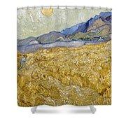 Van Gogh: Wheatfield, 1889 Shower Curtain