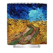 Van Gogh: Wheatfield, 1890 Shower Curtain