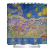 Van Goghville Shower Curtain
