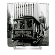 Van Ness And Market Cable Car- By Linda Woods Shower Curtain