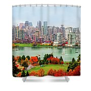 Vancouver After The Rain Shower Curtain