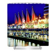 Vancouver At Night Shower Curtain