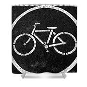 Vancouver Bike Lane- Art By Linda Woods Shower Curtain