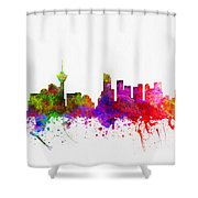 Vancouver British Columbia Skyline Color02 Shower Curtain