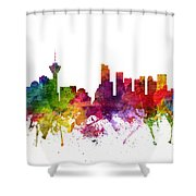 Vancouver Canada Cityscape 06 Shower Curtain