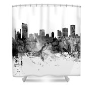 Vancouver Canada Skyline Panoramic Shower Curtain