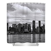 Vancouver In Black And White. Shower Curtain