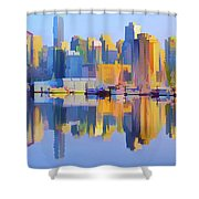 Vancouver Skyline Shower Curtain