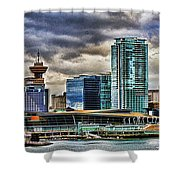 Vancouver Skyline Hdr Shower Curtain