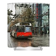 Vancouver Streets Shower Curtain