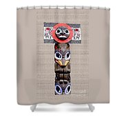 Vancouver Totem - 3 Shower Curtain by Linda  Parker